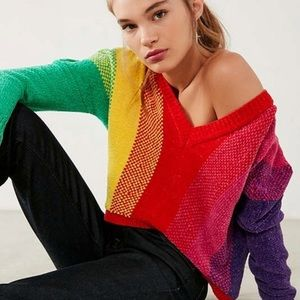 Rainbow Chenille Sweater Silence and Noise